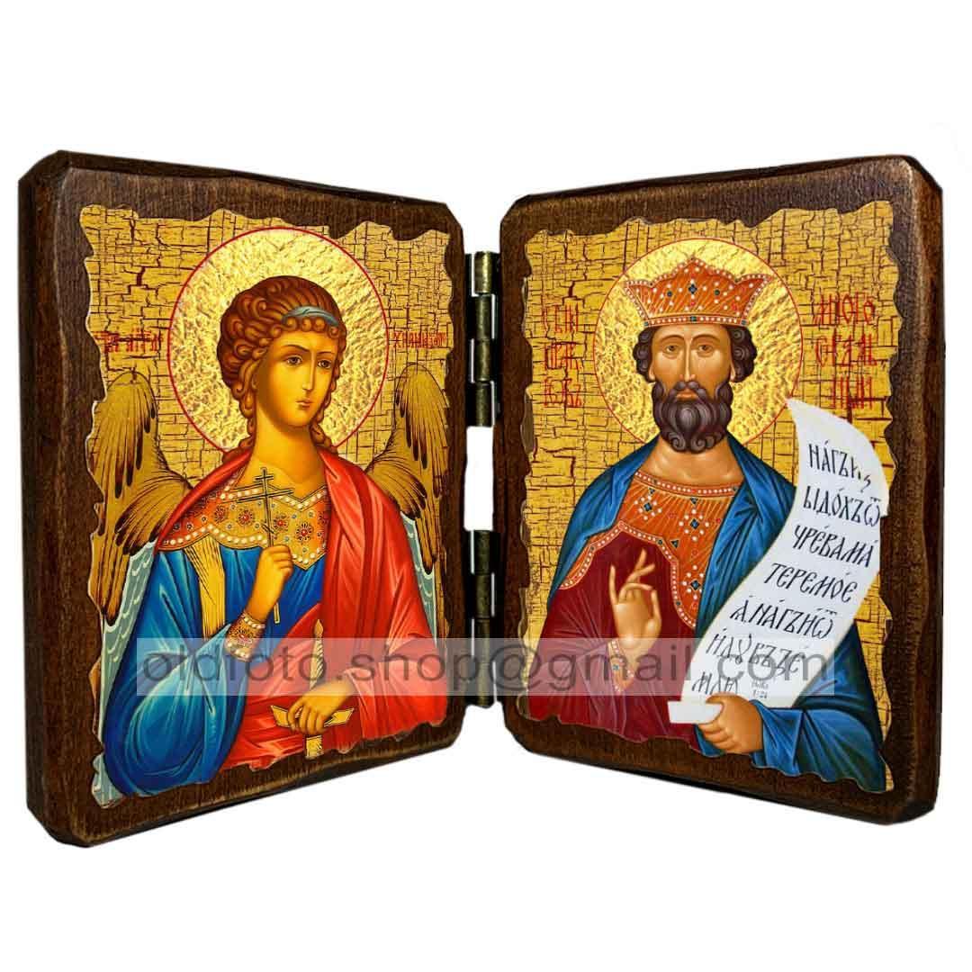 Ікона Іван Печерський Преподобний Багатостраждальний ,ікона на дереві 130х170 мм