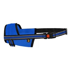 Намордник для собак Bronzedog Mesh дышащий регулируемый 3D сетка синий размер S