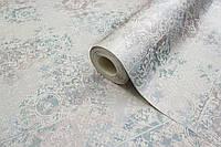 Моющиеся серые обои в кухню, влагостойкие бумажные обои плитка LS Нэнси МНК 5-1293 (0,53х10.05 м)