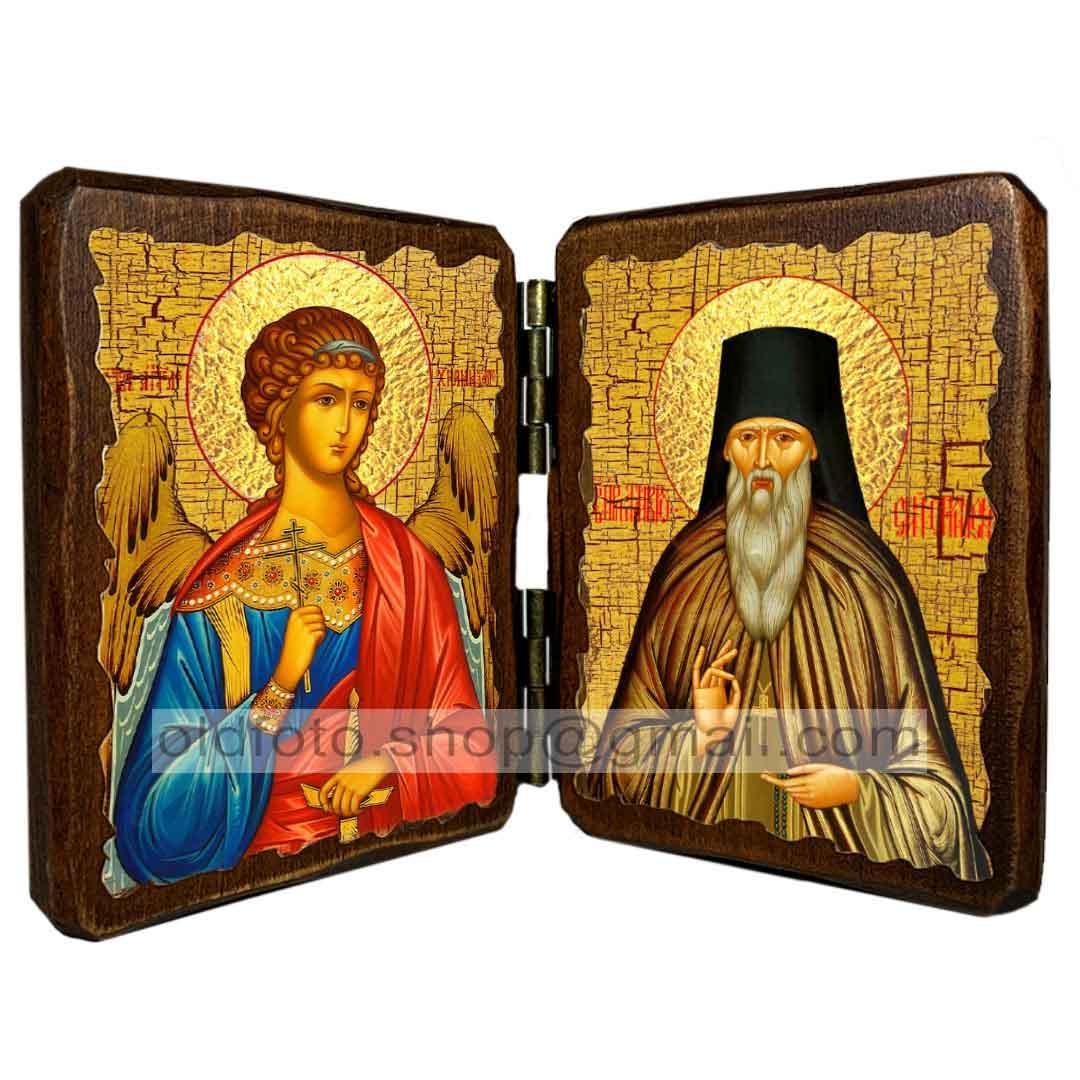 Икона Амвросий Оптинский Преподобный ,икона на дереве 260х170 мм