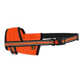 Намордник для собак Bronzedog Mesh дышащий регулируемый 3D сетка оранжевый размер S