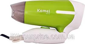 Фен дорожный складной Kemey KM-6830 Зеленый