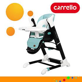 Детский стульчик для кормления CARRELLO Cascata CRL-10303/1 Azure Green Бирюзовый | Стульчик-качеля, шезлонг