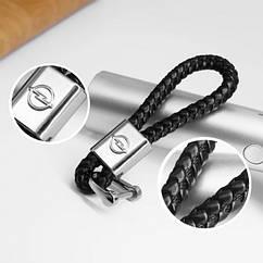 Брелок плетёнка с логотипом авто, брелок для ключей авто Opel
