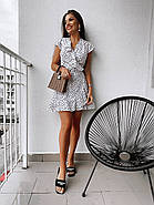 Короткое платье на запах с воланами, фото 2