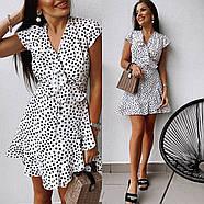 Короткое платье на запах с воланами, фото 4