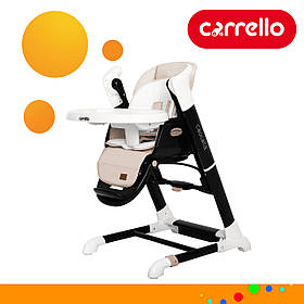 Детский стульчик для кормления CARRELLO Cascata CRL-10303/1 Cream Beige Бежевый | Стульчик-качеля, шезлонг