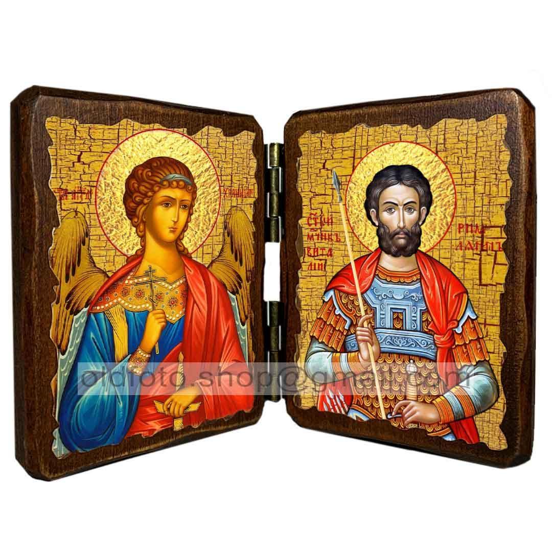 Ікона Віталій Святий Мученик Римлянин ,ікона на дереві 130х170 мм