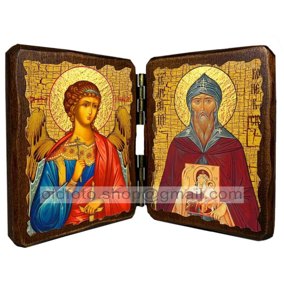 Икона Арсений Коневский Преподобный ,икона на дереве 260х170 мм