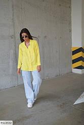 Жіноча сорочка льон (Батал)
