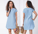 """Вільний жіноча літнє плаття з льону """"Penny"""", фото 5"""