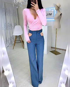 Стильные женские джинсы с вырезами по бокам Деним 42-44 р