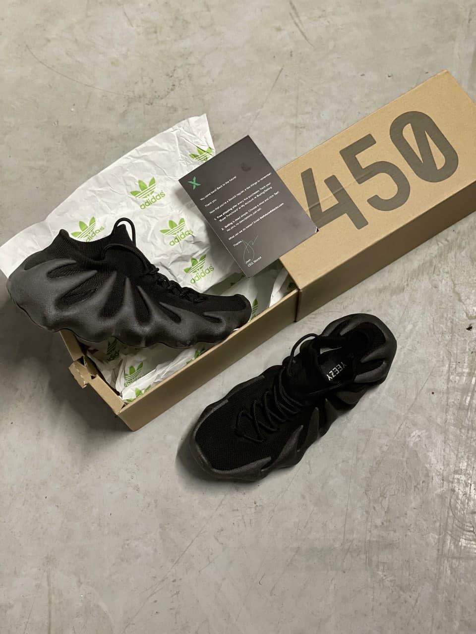 Мужские кроссовки Adidas Yeezy 450 (черные) J3321 легкая крутая новинка