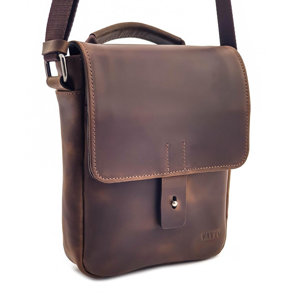 Чоловіча шкіряна сумка через плече