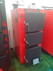 Твердопаливний котел тривалого горіння Kraft серія S 15 кВт з ручним управлінням, фото 3