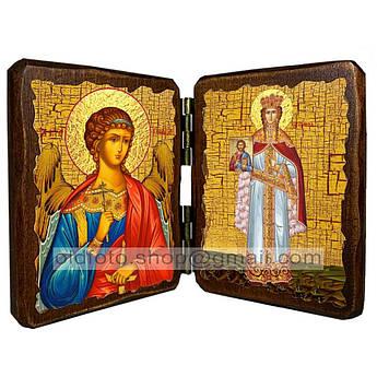 Икона Феодора Греческая Царица Святая ,икона на дереве 340х230 мм