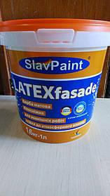 Водно-дисперсійна фарба К148 1,6 кг 1л Інтер'єр фасад LATEXfasade