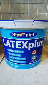 Водно-дисперсионная латексная краска К142 8кг 5л Интерьер плюс LATEXplus