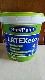 Водно-дисперсионная латексная краска К144 1,6кг 1л Интерьер эко LATEXeco