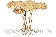 Столик металлический Листья Лотоса, 88см