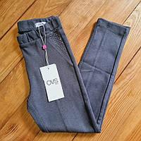 Штани на дівчинку, ріст 122, колір сірий, фото 1