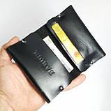 Кардхолдер портмоне з натуральної шкіри, чорна , шкіряна візитниця Babich кардхолдер, фото 5