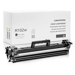 Совместимый картридж HP LaserJet Pro M102w (чёрный c тонером), ресурс (1.600 копий), аналог от Gravitone
