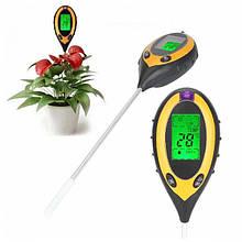 Анализатор почвы 4 в 1(РН, влажность, освещённость, температура)