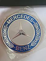 Наклейки на ковпачки, заглушки, наклейки на диски 90 мм Mercedes хром