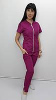 Костюм жіночий медичний Мілан-Люкс бавовна короткий рукав, фото 1