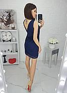 Платье женское приталенное без рукавов с приоткрытой спиной, фото 4