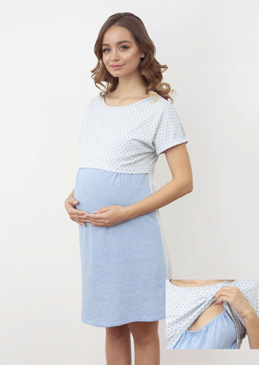Нічна сорочка для вагітних і годуючих ТМ Роксана 1168