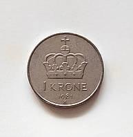 1 крона Норвегія 1981 р., фото 1