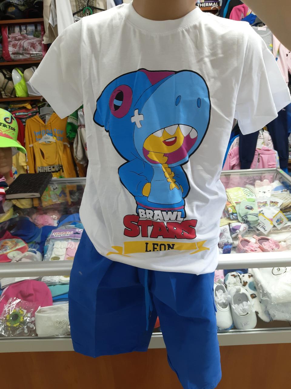 Літній костюм для хлопчика футболка шорти Бравл Старс р. 116 - 164