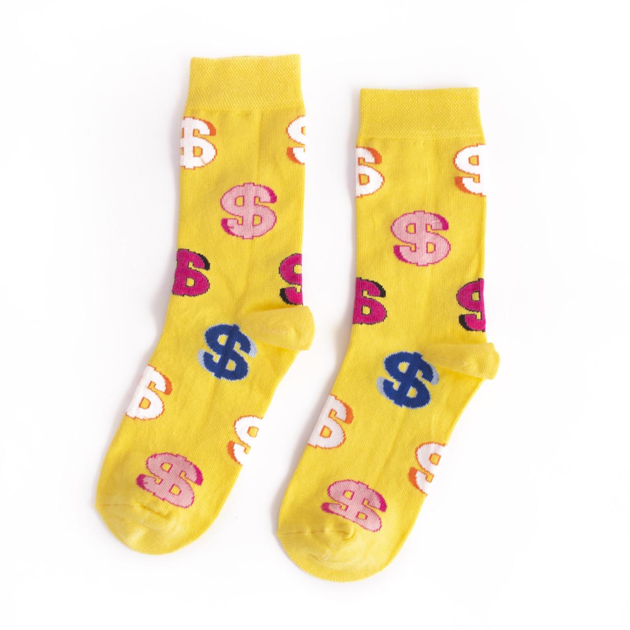 Чоловічі шкарпетки жовті Долар