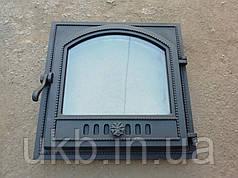 Топкові дверцята з термостеклом 500*500 мм / топочні Дверцята з термосклом 500*500 мм