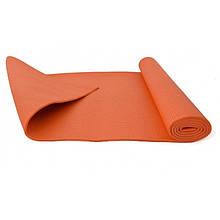 Йогамат, коврик для йоги MS 1846-2-2 толщина 4 мм (Коралловый)