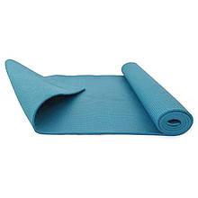 Йогамат, коврик для йоги MS 1846-2-2 толщина 4 мм (Голубой)