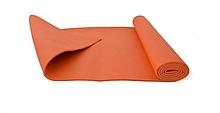 Йогамат, коврик для йоги MS 1184 из ПВХ (Оранжевый)