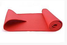 Йогамат, коврик для йоги MS 1184 из ПВХ (Красный)