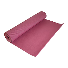 Йогамат, коврик для йоги MS 1184 из ПВХ (Бордовый)