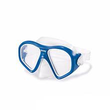 Маска для плавання 55977 ремінець регулюється (Синій)