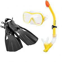 Набір для підводного плавання 55658 з ластами, маскою, трубкою і ластами