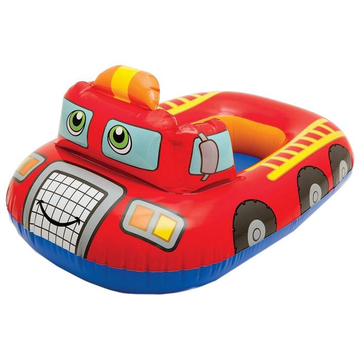 Детский надувной плотик Транспорт 59586, 3 вида (Пожарная машина)
