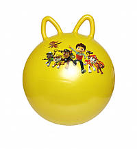 Мяч для фитнеса MS 1583 с ушками (Желтый)