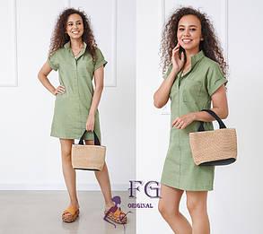 Натуральное льяное платье женское, фото 2