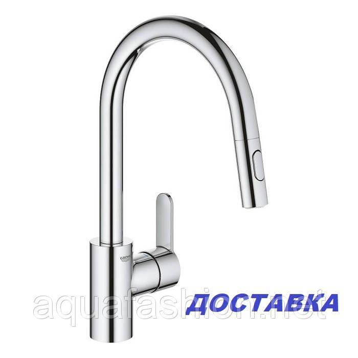Кухонний змішувач з висувним душем Grohe Eurostyle Cosmopolitan 331482003
