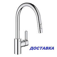 Кухонний змішувач з висувним душем Grohe Eurostyle Cosmopolitan 331482003, фото 1