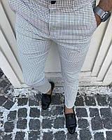 Мужские брюки белые в клетку Турция