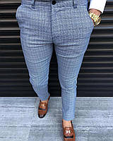 Мужские брюки синие в клетку Турция
